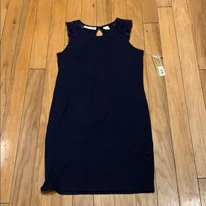 Kersh Dresses - Navy dress with lace